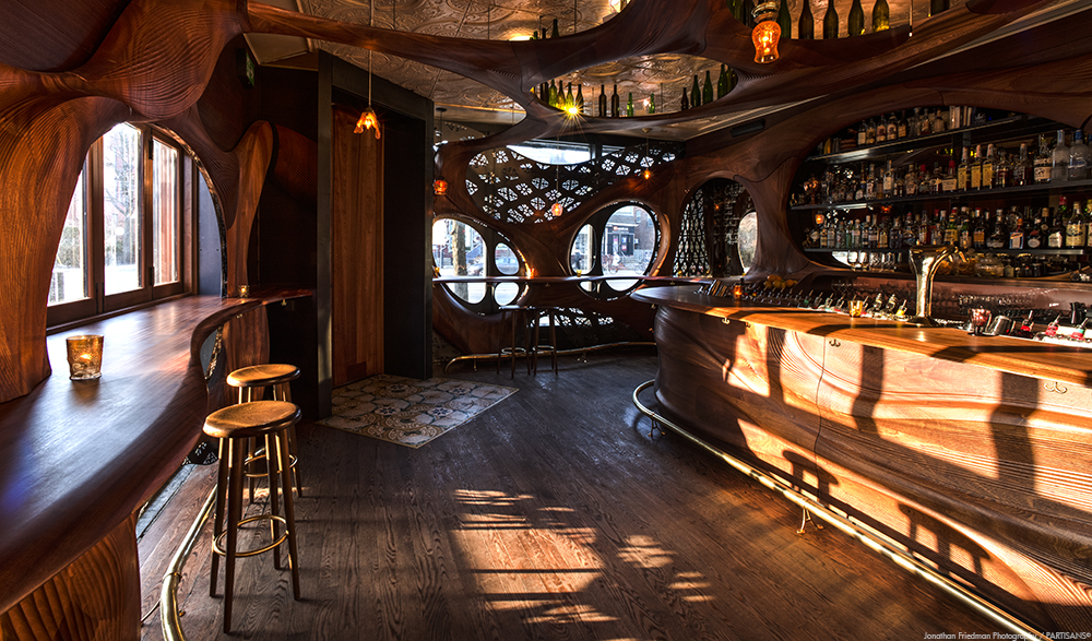 Timber Crafted Bar And Sauna By Partisans